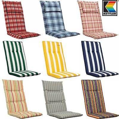 KETTLER Luxus Hochlehner Auflage Stuhlauflage Sessel Polster Garten Stuhl Kissen