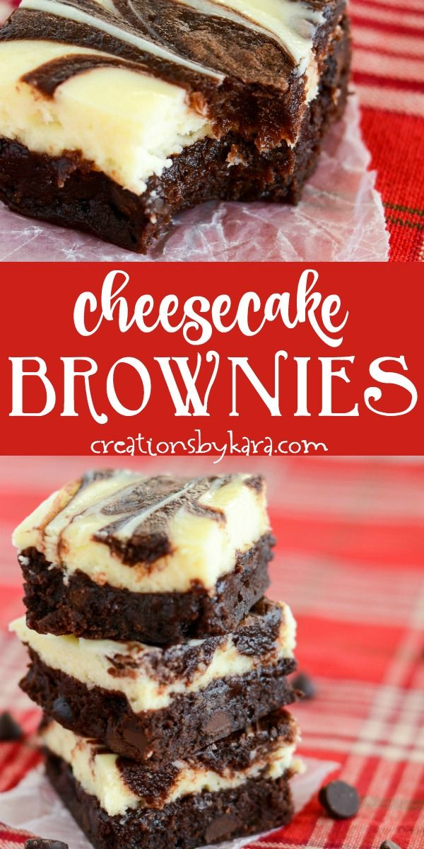 Best Cheesecake Brownies – these marbled cream cheese brownies are so decadent! …