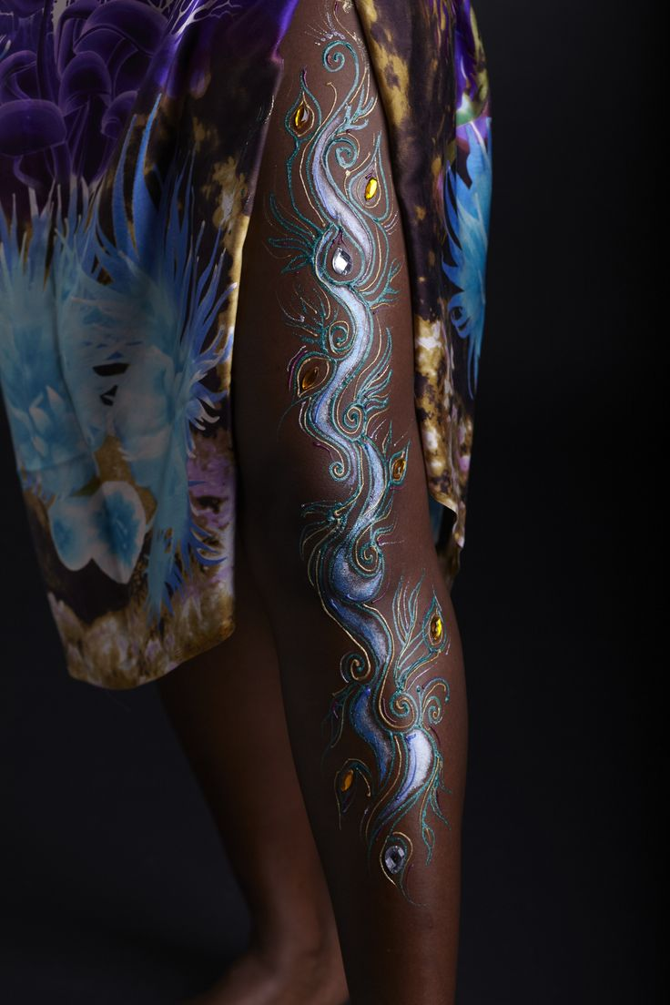 Light uv tattoos henna tattoo for - Henna With Blue And Gold Body Gel