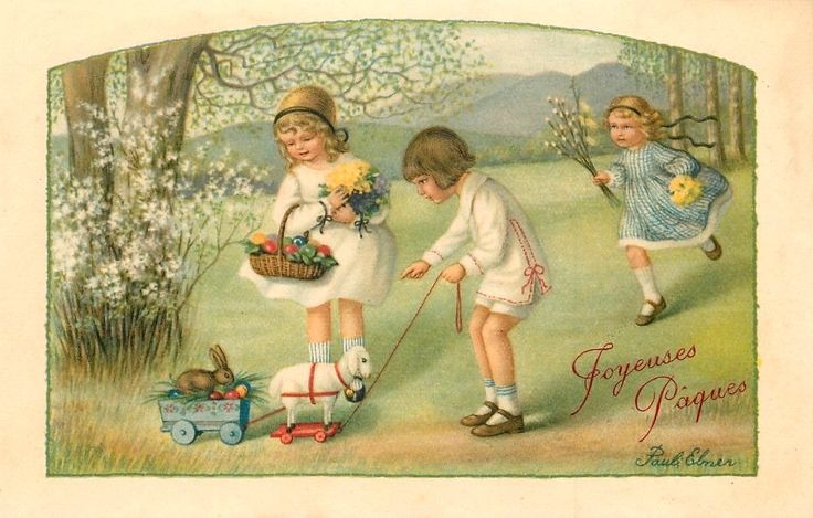Pauli Ebner (1873-1949) — Old Easter Post Cards (951x607)