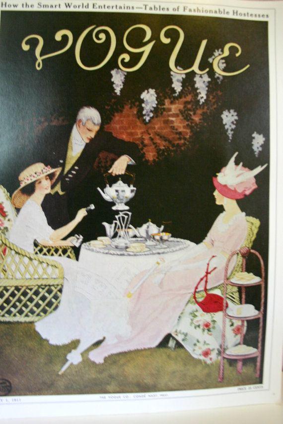 RARE Vintage VOGUE Cover, 1911