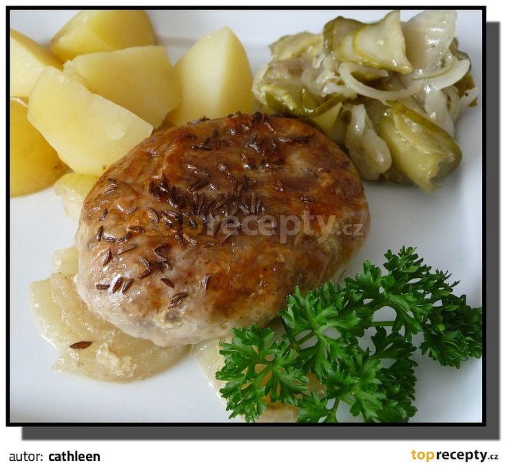 Mleté maso v tukové vepřové bláně (bránici)