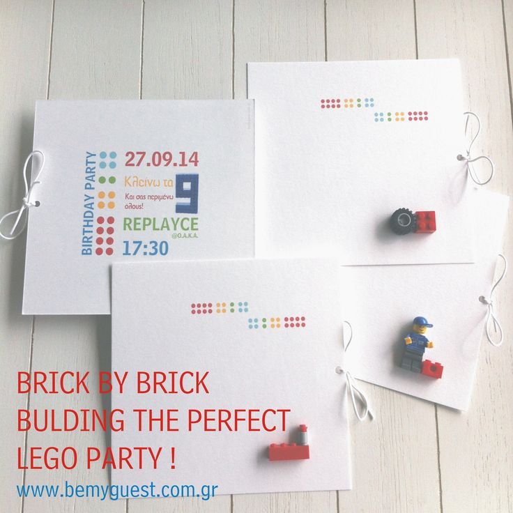 lego birthday party | handmade invitations | custom made events | www.bemyguest.com.gr