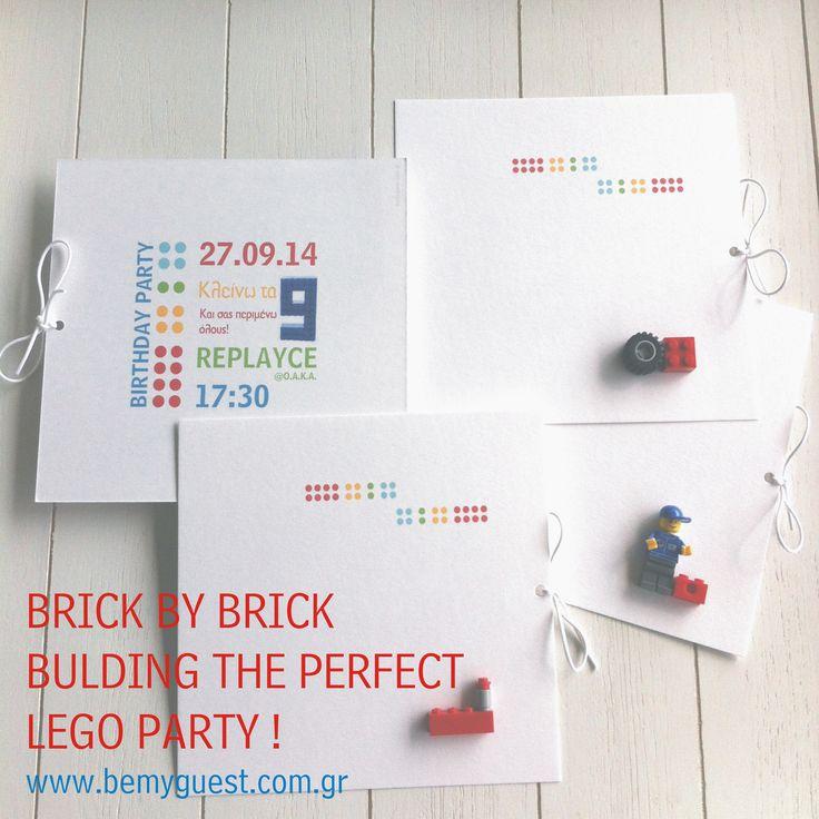 lego birthday party   handmade invitations   custom made events   www.bemyguest.com.gr