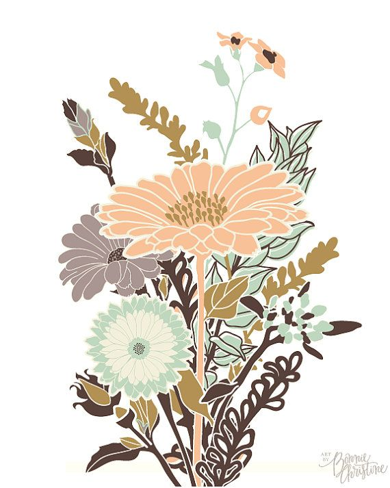 Cultivate Flower Field Print By Sweetbonniechristine On