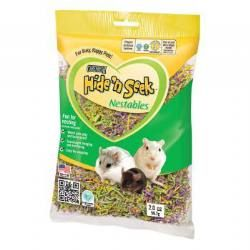 Carefresh Hide 'n Seek Mardi Gras Nestables are great fun for small pets that are natural nest builders, like mice, hamsters, gerbils, rats, ferrets and birds. Because it's soft and springy, it's perfect for nesting, sleeping and decorating. Just put a handful in the habitat and watch your pet play!
