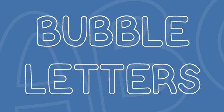 17 Best Ideas About Bubble Letter Fonts On Pinterest