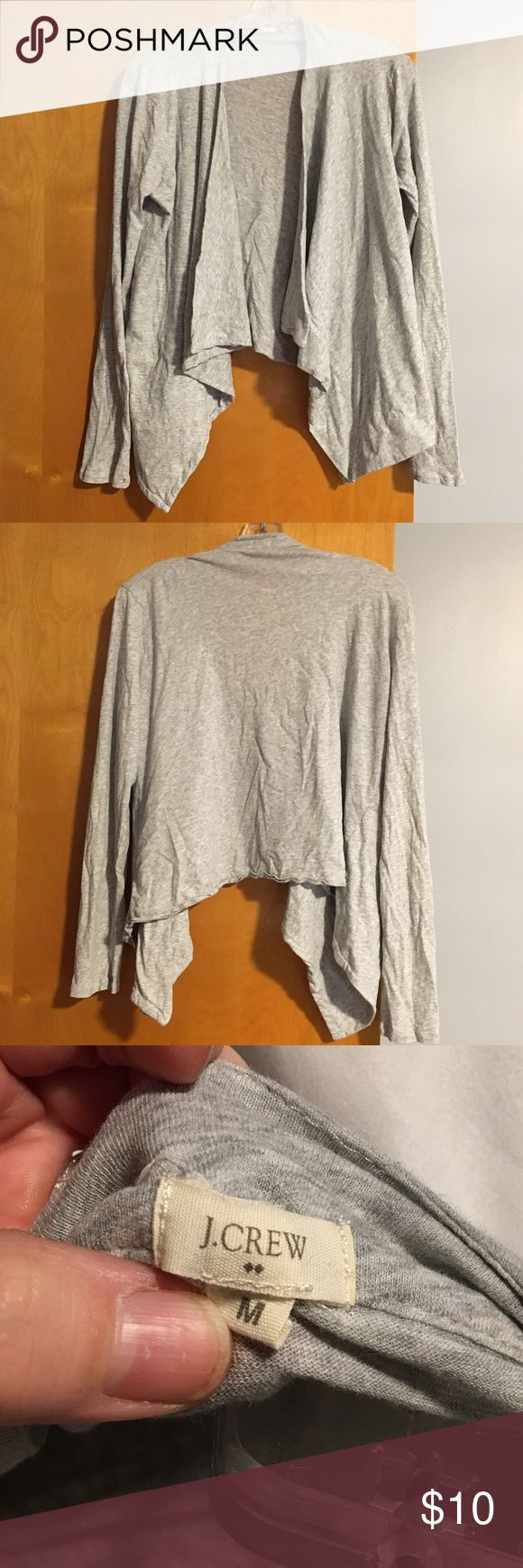 JCrew Open Front Cardigan ~ M Short cardigan with open flowing front. Great with jeans and a came. Longer in front then in the back. Super soft and comfy material. Only worn a hand full of times. J. Crew Sweaters Cardigans