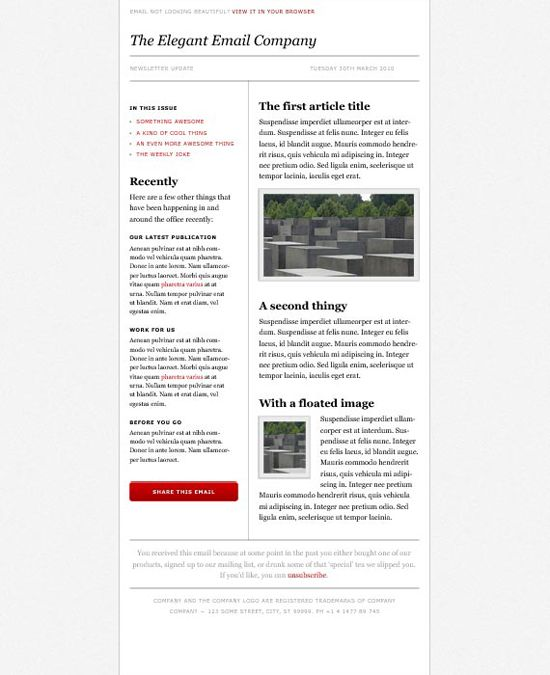 Best Design Newsletters Images On   Layout Design