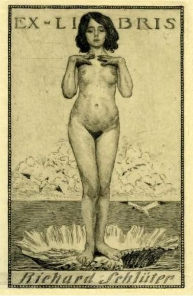venusmilk:  Ex Libris by Bruno Héroux (source)