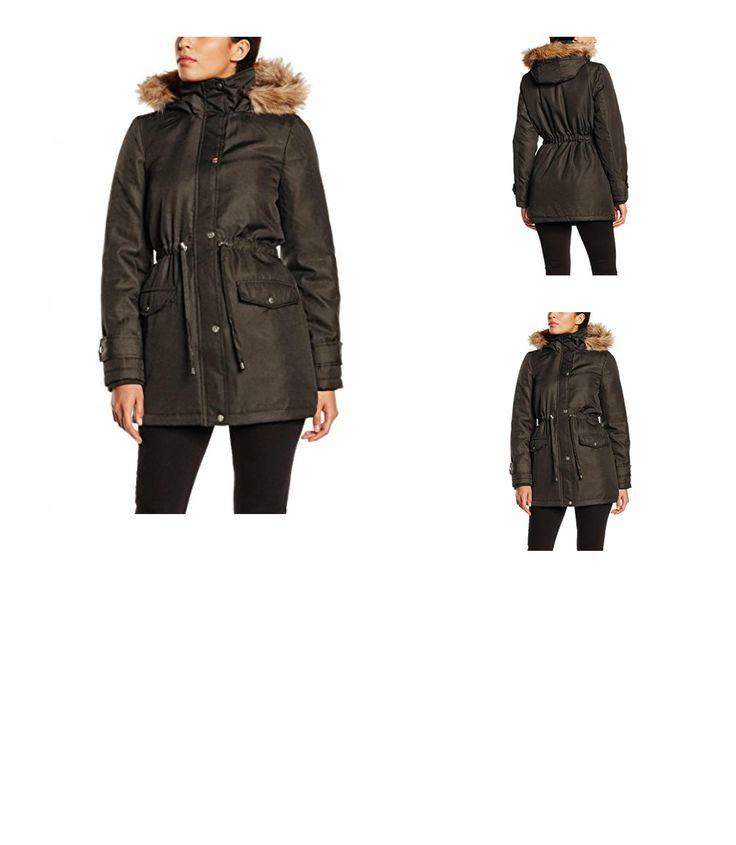 5710636399632 | #VILA #CLOTHES #Damen #Mantel #Vinoela #Parka #Coat, #Gr. #34 #(Herstellergröße: #XS), #Schwarz #(Black #Olive)