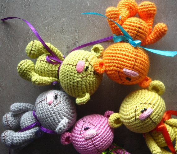 Amigurumi crochet oso patrón patrón PDF Inglés por crochetorium