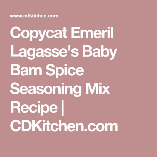 Copycat Emeril Lagasse's Baby Bam Spice Seasoning Mix Recipe | CDKitchen.com
