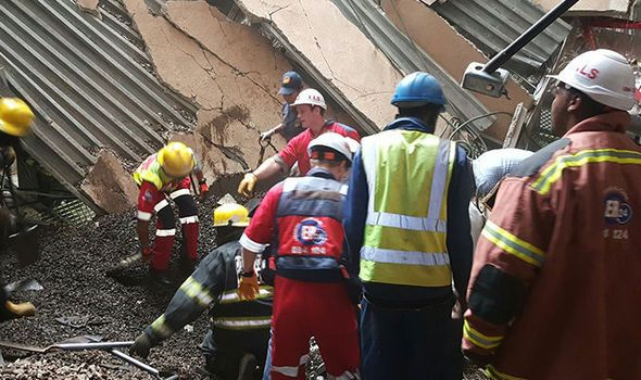 BREAKING NEWS: Several feared trapped after hospital roof COLLAPSES in South Africa