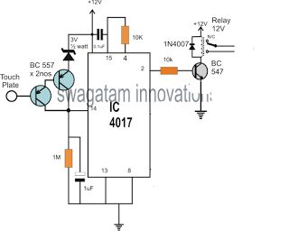Electronic Circuit Projects: Simple Touch Sensor Switch