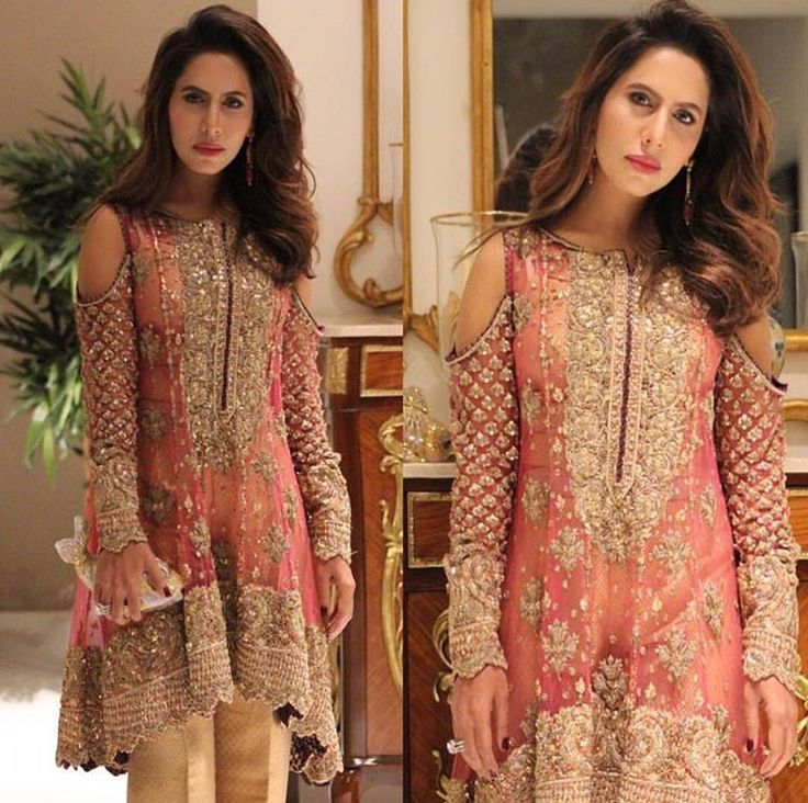 Love the colors BUT cold shoulders in Pakistani dresses is a major no because it ruins the whole scene of the elegance of the outfit. Cutting up two holes? Seriously?