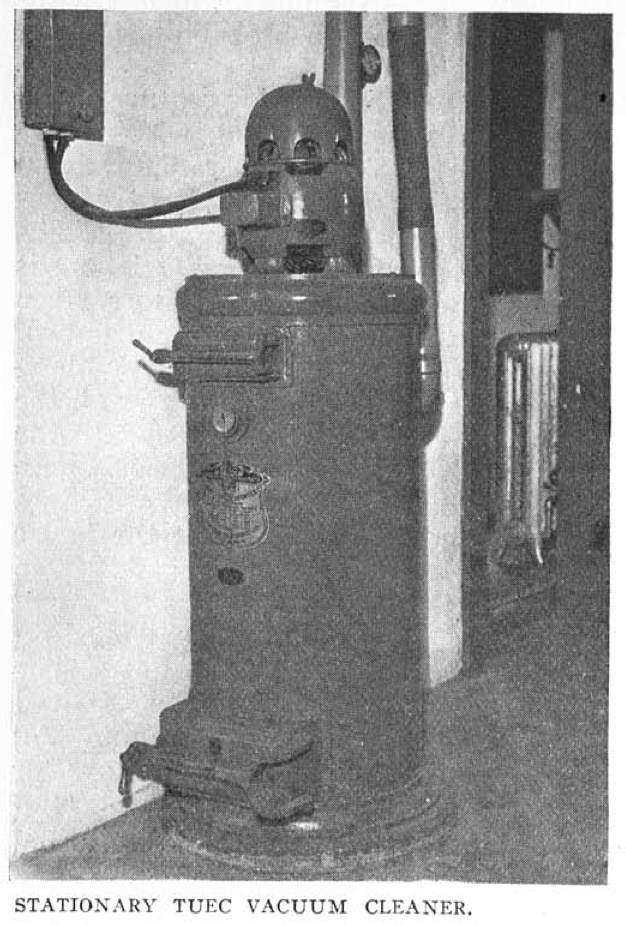 Central vacuum system dating from 1915! From Craftsman Magazine, Oct 1915.