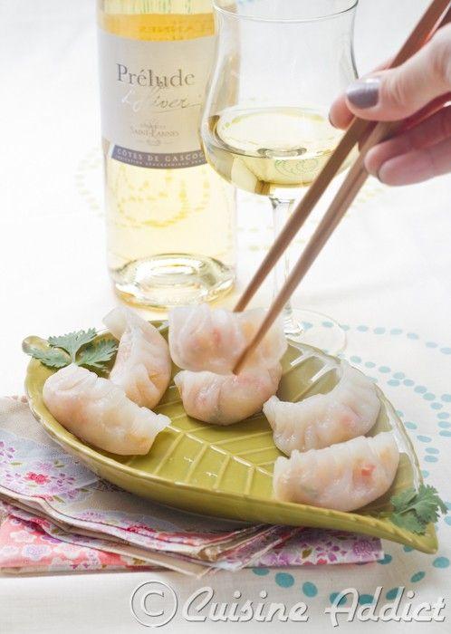 Ha Kao Crevette & Légumes ◊ Des bouchées vapeur pour accompagner un Côtes de Gascogne blanc - Cuisine Addict - Food & Travel