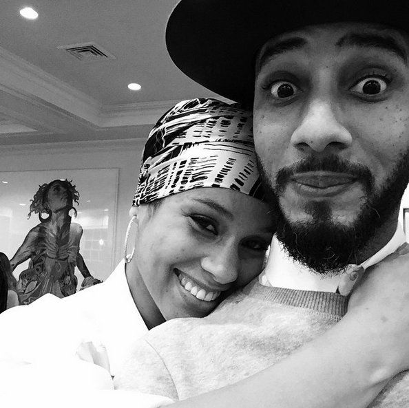 Pin for Later: 35 Adorable Pictures of Alicia Keys and Swizz Beatz's Boys  Alicia and Swizz posed for a cute selfie together on Thanksgiving 2014.