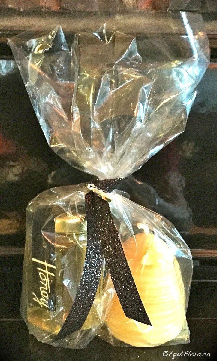 Hostess gift...honey & candle