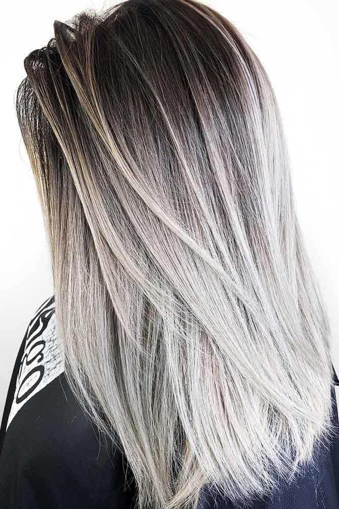 70 Sassy Looks With Ash Brown Hair Lovehairstyles Com Silver Hair Color Silver Ombre Hair Silver Blonde