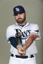 Tampa Bay Rays catcher Curt Casali (19) poses for a photo on photo day at Charlotte Sports Park.  #9138463