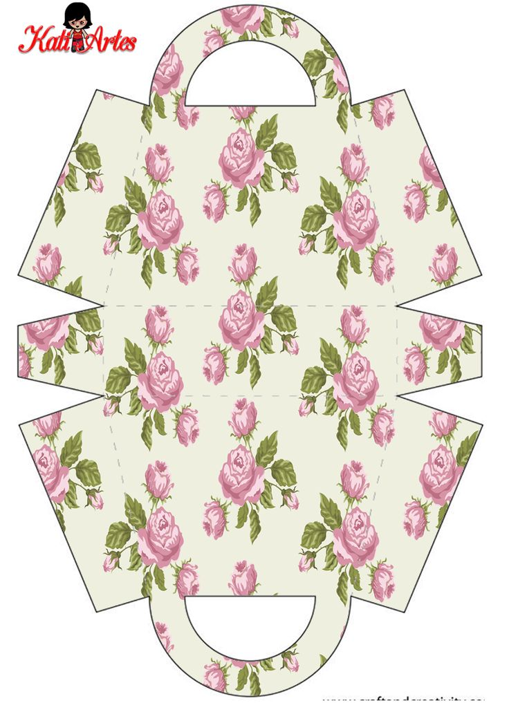 Flowers: Free Printable Paper Purses.