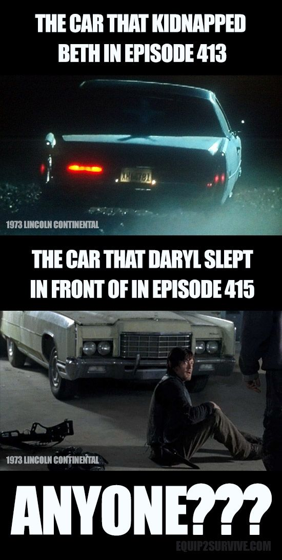 The car that kidnapped Beth in Walking Dead episode 413... then the car that Daryl took a nap in front if in episode 415.