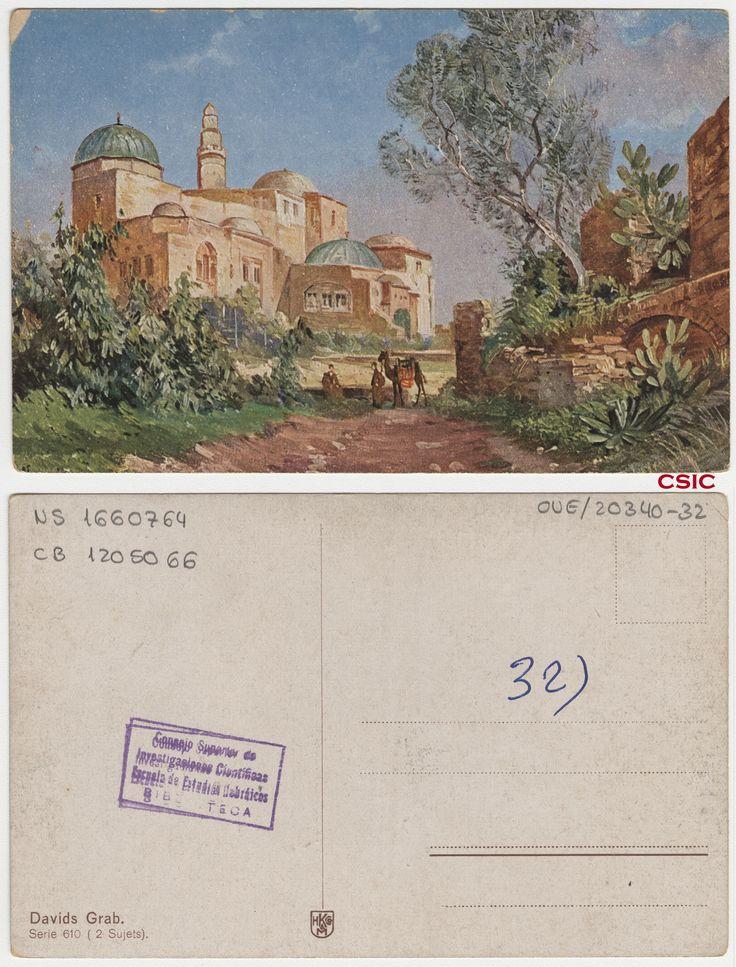 Davids Grab.  Editor: Hamburg : M. GL & M.  Fecha: ca.1903. Serie/Tit. relacionados: Serie 610; Vistas de Palestina. http://bvirtual.bibliotecas.csic.es/csic:csicalephbib001660764