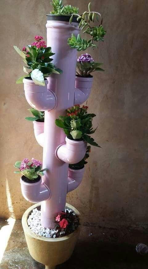 Plastico Flores Botellas De Como De Hacer