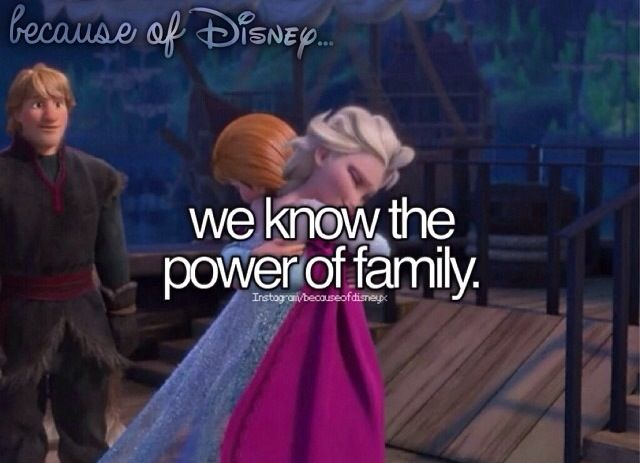 Because Of Disney... #Frozen #Disney #Family