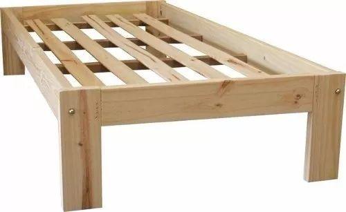 cama 1 plaza de pino - turca otomana excelente 190x80