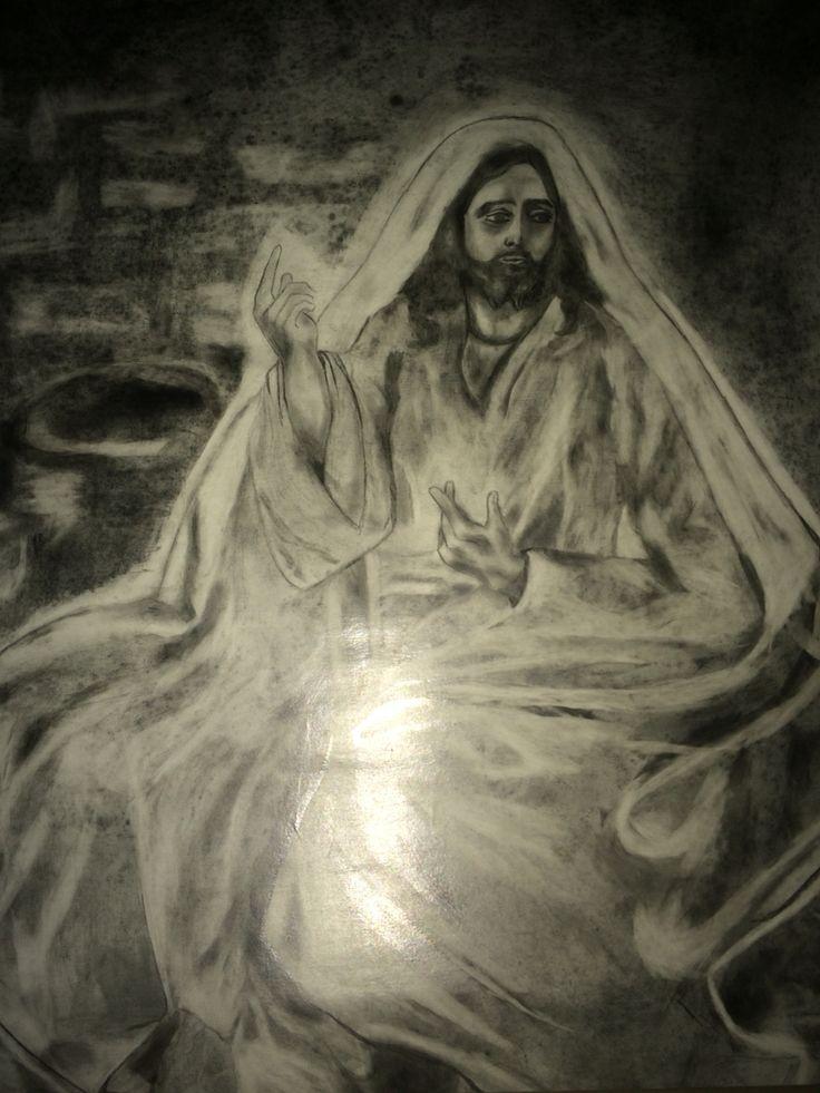 Jesús Predicando by Alfonso Ramirez