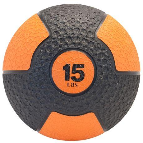 Deluxe Rubber Med Ball, 15 lb