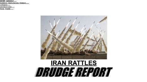 Drudge Report Stokes Iran Fears With Fake Missile Photo Featuring Jar Jar Binks