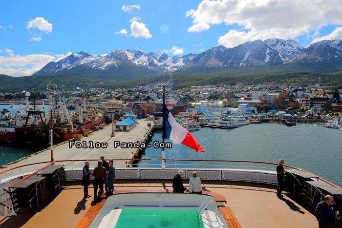 View of Ushuaia Skyline from Le Boreal Antarctic Cruise - Ushuaia, Tierra del Fuego, Patagonia, Argentina | FollowPanda.COM