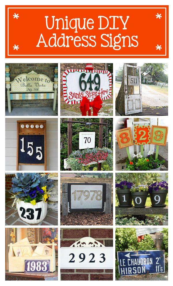 Unique DIY Address Signs