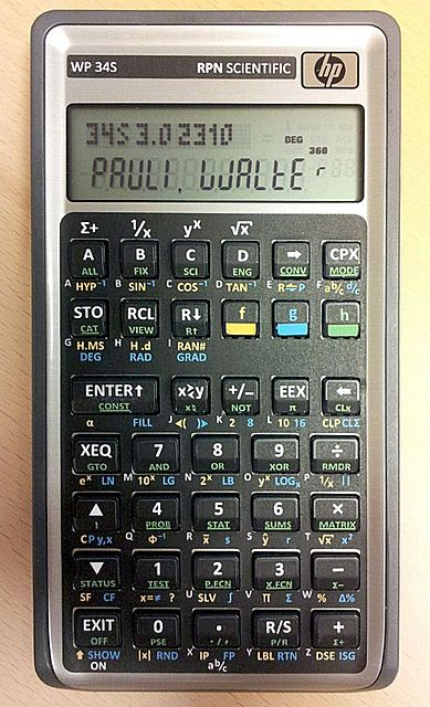 HP30b with overlay for WP34S