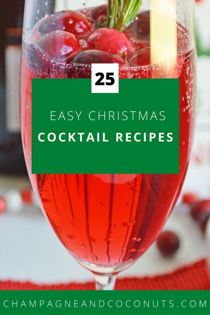 Cheery Christmas Cocktails in 2020 | Easy christmas cocktail