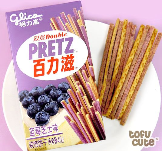 Buy Glico Double Pretz - Blueberry Cheesecake Biscuit Sticks at Tofu Cute