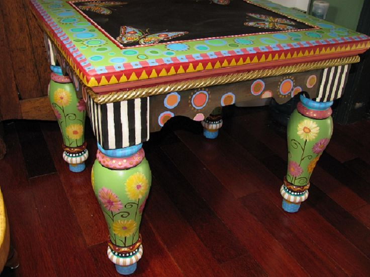 394 Best Images About Painting Whimsical Furniture On Pinterest Hand Painted Furniture