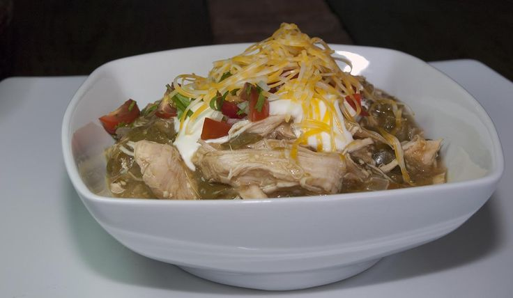 Spicy Green Chicken Chili with Tomatillos and Poblano Peppers- Low Carb - looks so good!