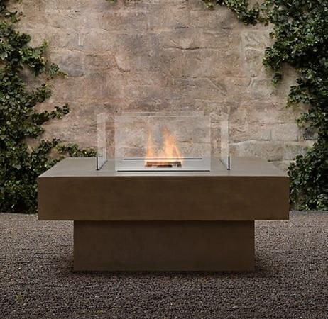 Best Fire Pits Images On Pinterest Fire Backyard Ideas And - Concrete outdoor fireplace river rock fire bowl from restoration hardware