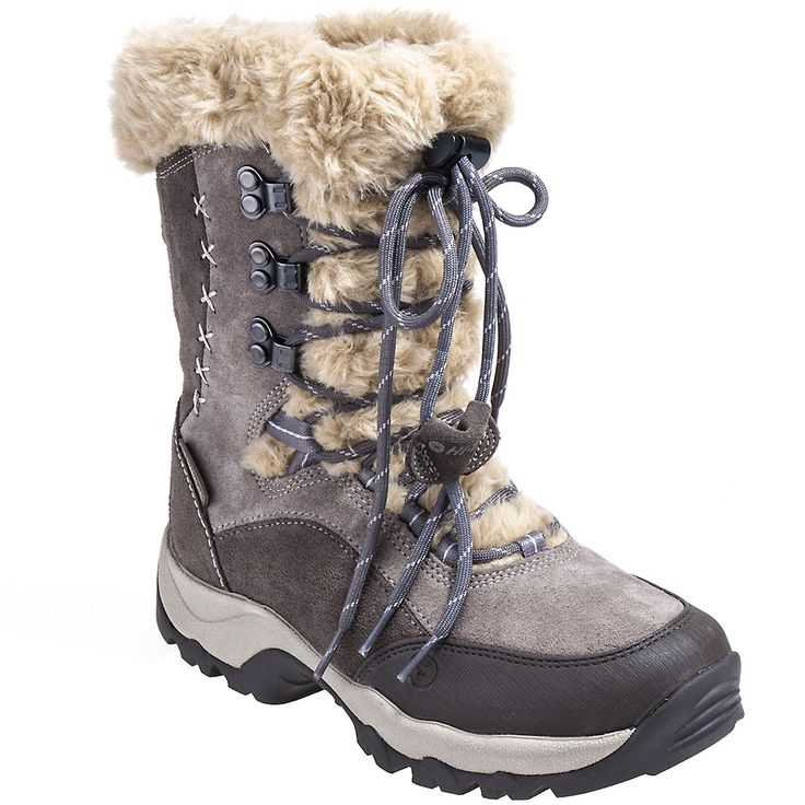 Hi-Tec Boots 40799 Womens Insulated St. Moritz Faux Fur Waterproof Suede Boots