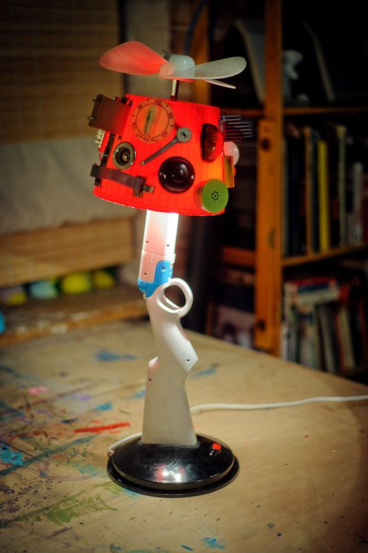 Shotgun upcycled table lamp by herywalery on Etsy
