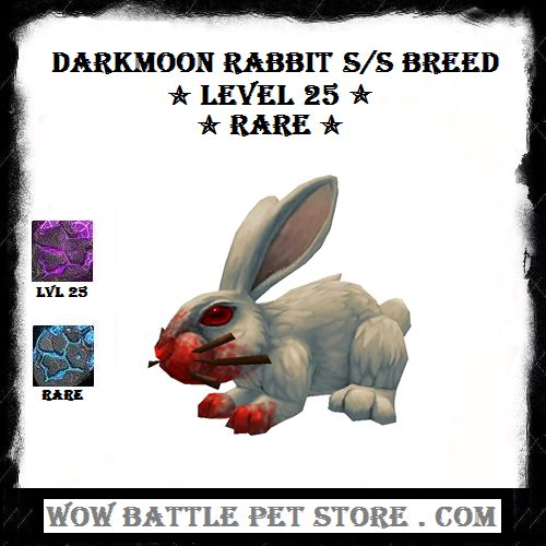 Darkmoon Rabbit WoW Pet S/S Breed For Sale $14.25   WoW Battle Pet   WoW Pets   World of Warcraft Pet   Best Warcraft Pets   Darkmoon Faire World of Warcraft   Shop WoW Items   Best WoW Pets For Sale   Where to buy wow pets   Come Shop WoWBattlePetStore NoW!