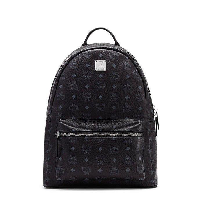 MCM Medium Stark Backpack In Black