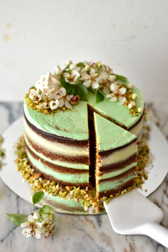 Pistachio Rum Bundt Cake