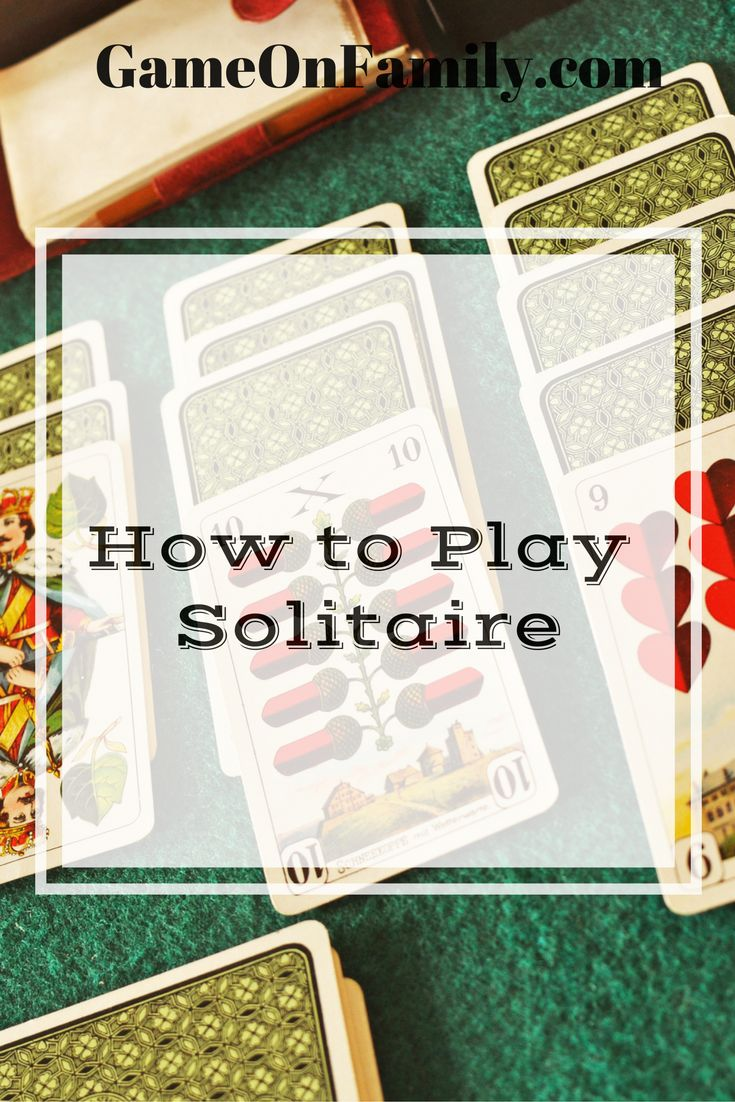 Want to play a fun card game solo? Learn how to play solitaire at www.GameOnFamily.com. Discover the Solitaire (often called Patience) rules for the real life (non computer) version. Game on!