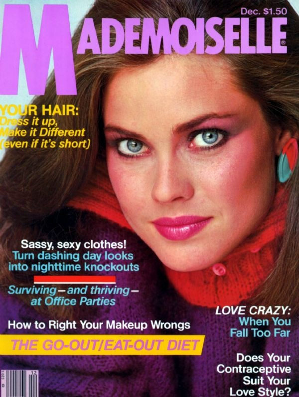 Blast from the past ... Carol Alt, Mademoiselle Magazine Cover, December 1980